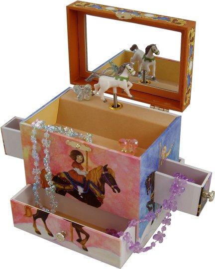 Carousel Musical Treasure Box Merry Go Round Musical
