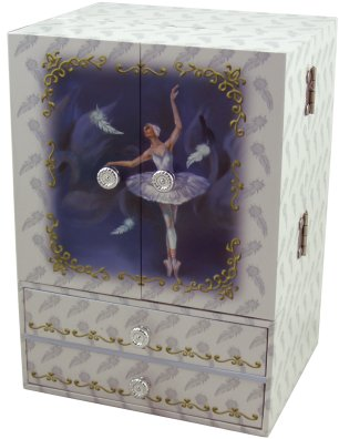 Swan Lake Ballet Musical Jewellery Boxes