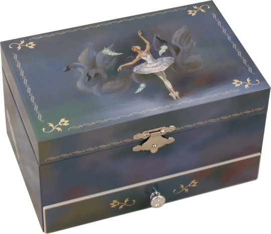Odette Swan Lake Musical Jewellery Box Classic Ballet