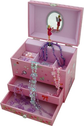 Wish Upon A Star Fairy Musical Jewellery Box Pink Fairies Music