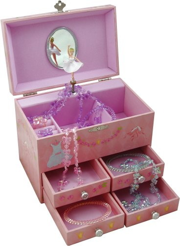 Amelia Pink Ballerina Musical Jewellery Box Ballet Music Gifts