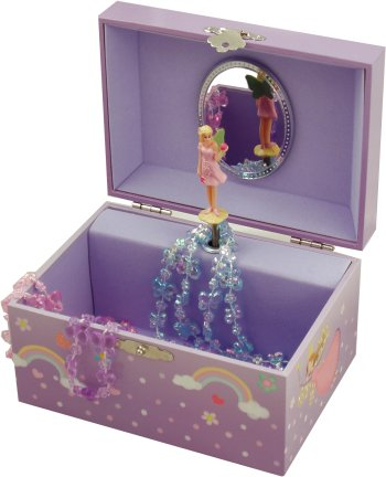 Somewhere Over The Rainbow Fairy Musical Jewellery Box Music Boxes