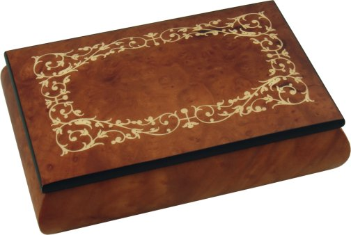 Luxury Inlaid Wooden Jewellery Boxes from N J Dean Co Bur Elm