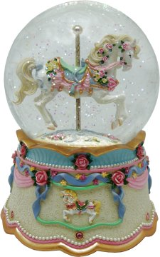 Musical Carousel Water Globe from Carousels of Distinction