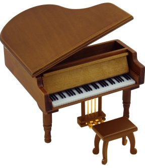 Miniature Grand Piano Music Box