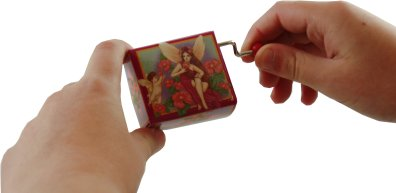 mini hand wound music boxes