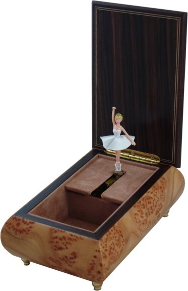 Ballerina Musical Jewellery Boxes Hand Crafted Wooden