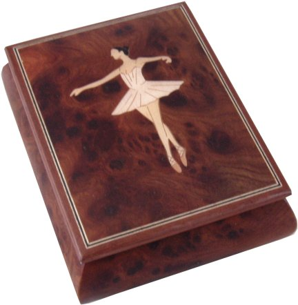 Ballerina Musical Jewellery Boxes Hand Crafted Wooden Ballerina